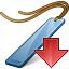 Bookmark Blue Down Icon 64x64