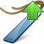 Bookmark Blue Up Icon 64x64