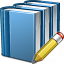 Books Blue Edit Icon 64x64