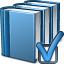Books Blue Preferences Icon 64x64