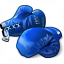 Boxing Gloves Blue Icon 64x64