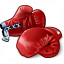 Boxing Gloves Red Icon 64x64