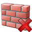 Brickwall Delete Icon 64x64