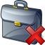 Briefcase Delete Icon 64x64