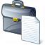 Briefcase Document Icon 64x64