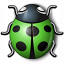 Bug Green Icon 64x64