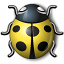 Bug Yellow Icon 64x64