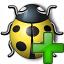 Bug Yellow Add Icon 64x64