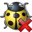 Bug Yellow Delete Icon 64x64