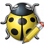 Bug Yellow Edit Icon 64x64