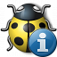 Bug Yellow Information Icon 64x64