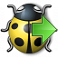 Bug Yellow Next Icon 64x64