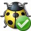 Bug Yellow Ok Icon 64x64