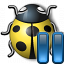 Bug Yellow Pause Icon 64x64