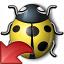Bug Yellow Reset Icon 64x64