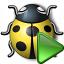 Bug Yellow Run Icon 64x64