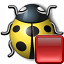 Bug Yellow Stop Icon 64x64