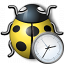 Bug Yellow Time Icon 64x64