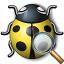 Bug Yellow View Icon 64x64