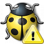 Bug Yellow Warning Icon 64x64