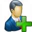 Businessman Add Icon 64x64