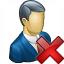 Businessman Delete Icon 64x64