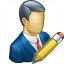 Businessman Edit Icon 64x64