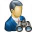 Businessman Find Icon 64x64