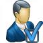 Businessman Preferences Icon 64x64