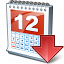 Calendar Down Icon 64x64