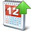 Calendar Up Icon 64x64