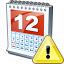 Calendar Warning Icon 64x64