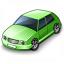 Car Compact Green Icon 64x64