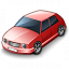 Car Compact Red Icon 64x64