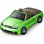 Car Convertible Green Icon 64x64