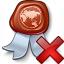 Certificate Delete Icon 64x64