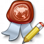 Certificate Edit Icon 64x64
