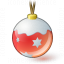 Christmas Ball Red Icon 64x64