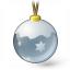 Christmas Ball Silver Icon 64x64