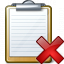 Clipboard Delete Icon 64x64