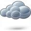 Cloud Dark Icon 64x64
