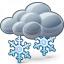 Cloud Snow Icon 64x64