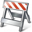 Construction Barrier Icon 64x64