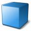 Cube Blue Icon 64x64