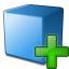 Cube Blue Add Icon 64x64