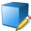 Cube Blue Edit Icon 64x64