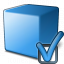 Cube Blue Preferences Icon 64x64