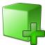 Cube Green Add Icon 64x64