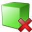 Cube Green Delete Icon 64x64