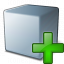 Cube Grey Add Icon 64x64